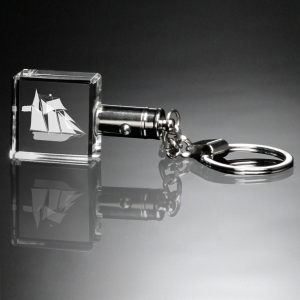 Keychain Lighted Square